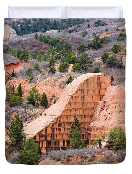 Quarry At Red Rock Canyon Colorado Springs Duvet Cover