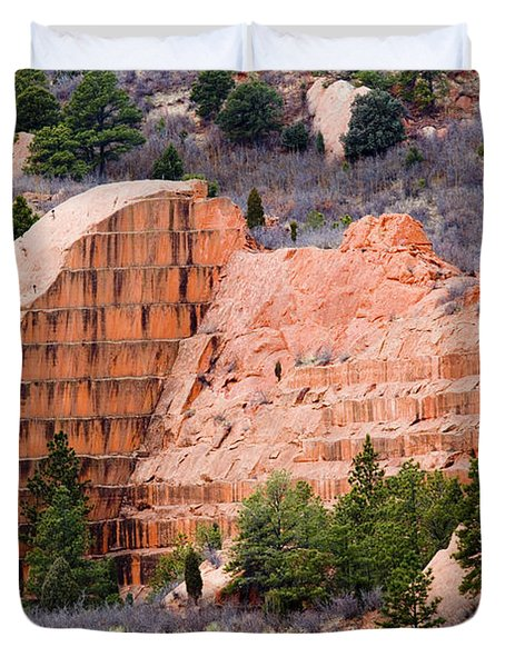 Quarry Closup At Red Rock Canyon Colorado Springs Duvet Cover