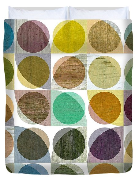 Quarter Circles Layer Project One Duvet Cover by Michelle Calkins