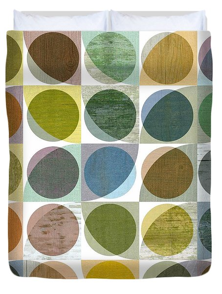 Quarter Circles Layer Project Three Duvet Cover by Michelle Calkins