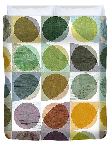 Quarter Circles Layer Project Two Duvet Cover by Michelle Calkins