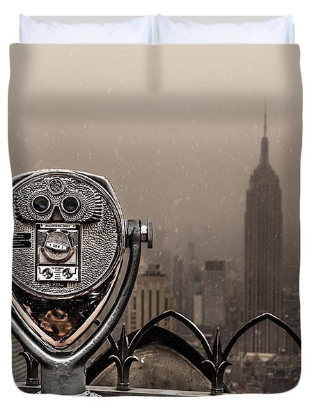 Duvet Cover featuring the photograph Quarters Only by Chris Lord