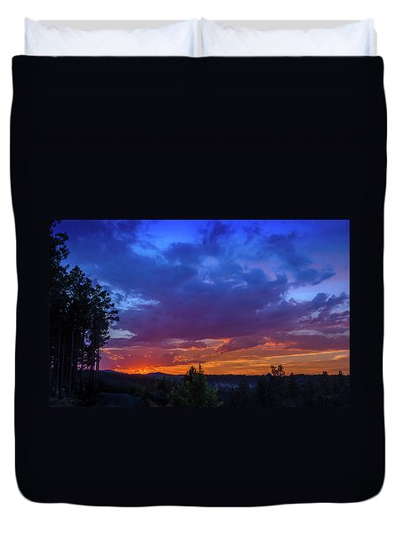 Quartz Canyon Sunset Duvet Cover