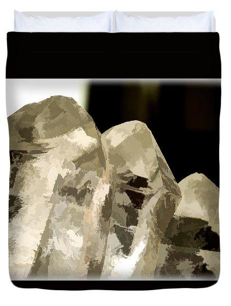 Quartz Crystal Cluster Duvet Cover