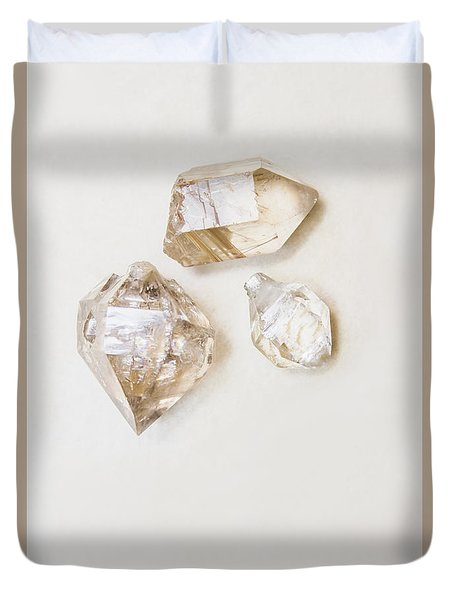 Duvet Cover featuring the photograph Quartz Crystals by Jorgo Photography - Wall Art Gallery