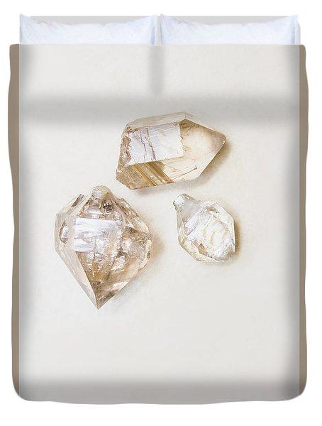 Quartz Crystals Duvet Cover
