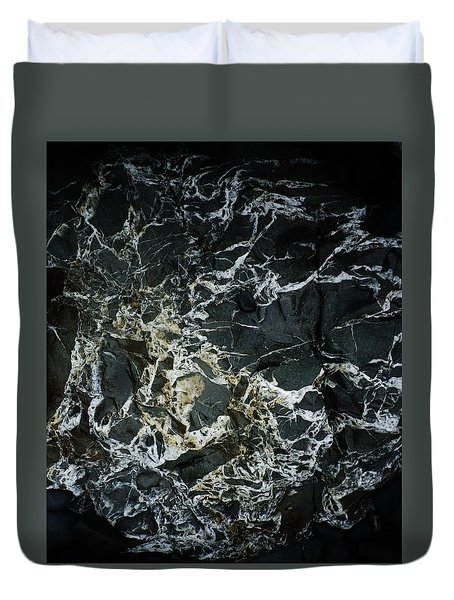 Quartz Veins Abstract 1 Duvet Cover by Richard Brookes