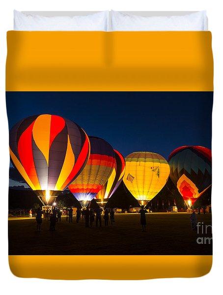 Quechee Balloon Festivial Duvet Cover