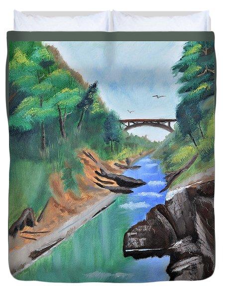 Quechee Gorge,vermont Duvet Cover