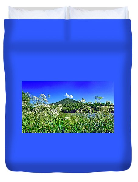 Queen Anne's Lace, Peaks Of Otter  Duvet Cover