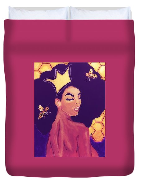Queen Bee  Duvet Cover by Miriam Moran
