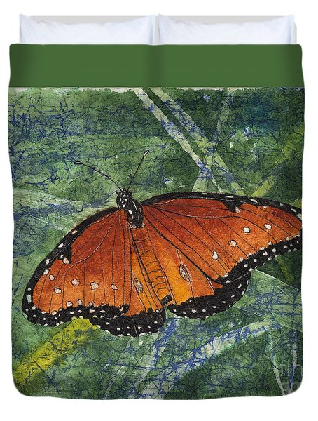 Queen Butterfly Watercolor Batik Duvet Cover
