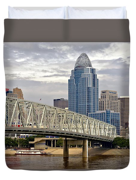 Duvet Cover featuring the photograph Queen City by Anthony Baatz
