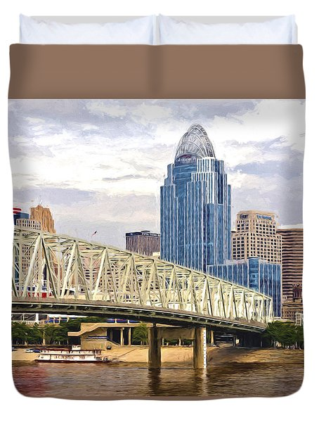 Duvet Cover featuring the photograph Queen City - Van Gogh by Anthony Baatz