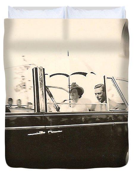 Queen Elizabeth And King George Vi Duvet Cover