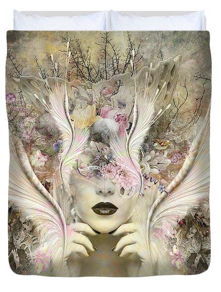 Queen Flora Duvet Cover