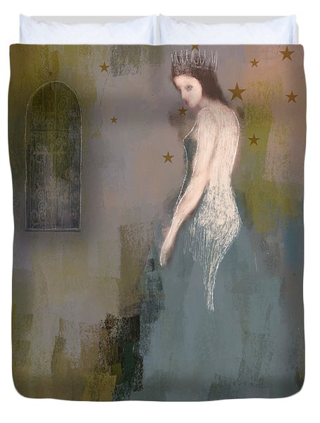 Duvet Cover featuring the digital art Queen by Lisa Noneman