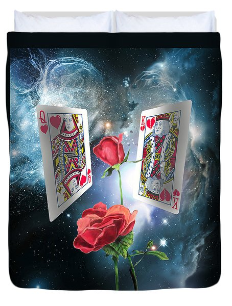Queen Of Broken Hearts Duvet Cover