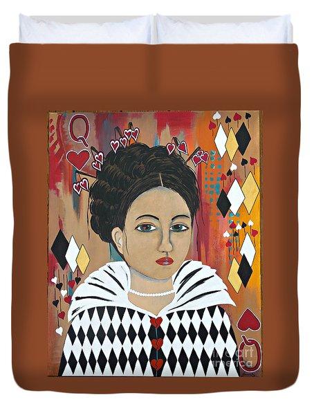 Queen Of Hearts Duvet Cover