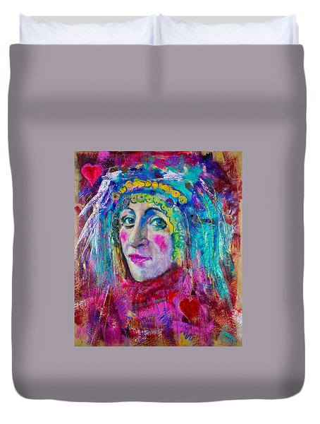 Queen Of Hearts Duvet Cover