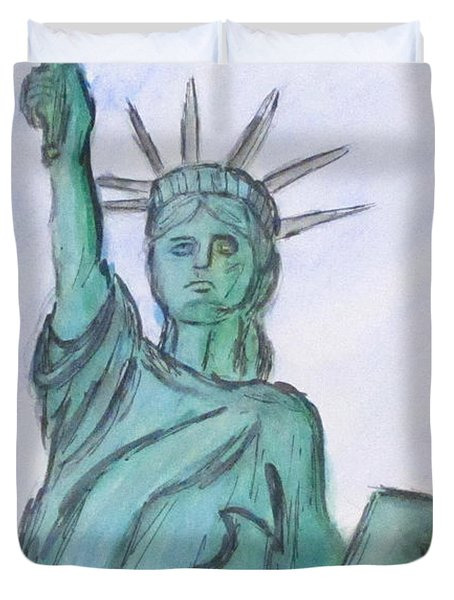 Queen Of Liberty Duvet Cover