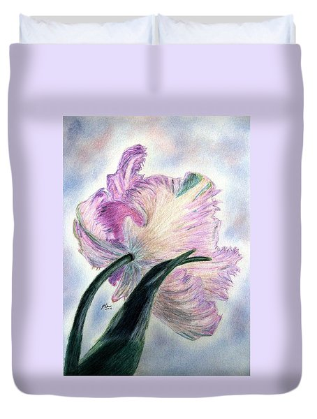Queen Of Spring Duvet Cover by Angela Davies