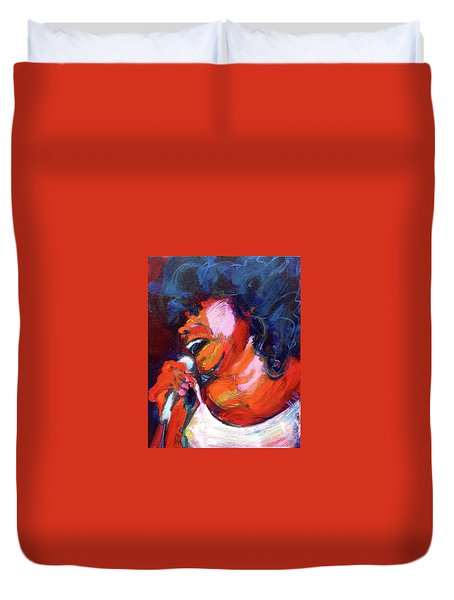 Queen Of The Blues Duvet Cover