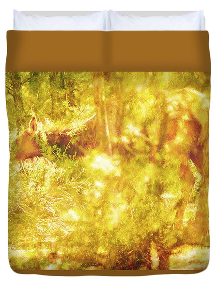Queen Of The Borrowed Light Duvet Cover