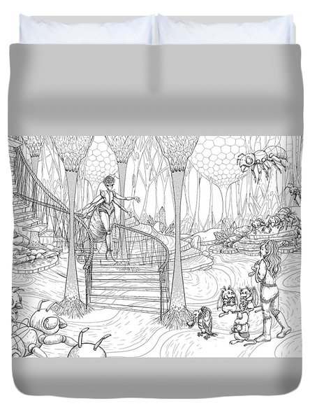 Queen Of The Hive Duvet Cover
