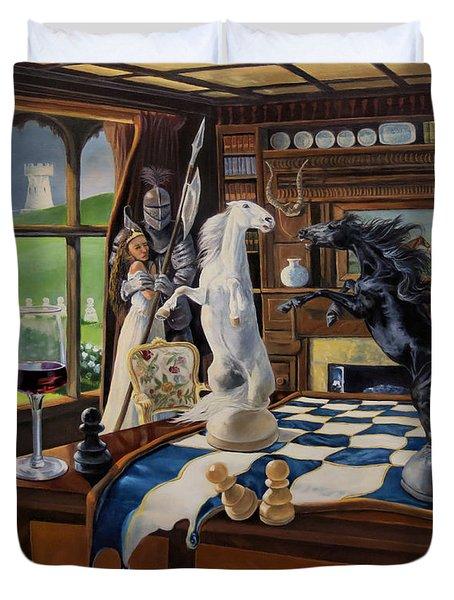 Queen's Magic Duvet Cover by Jeanne Newton Schoborg