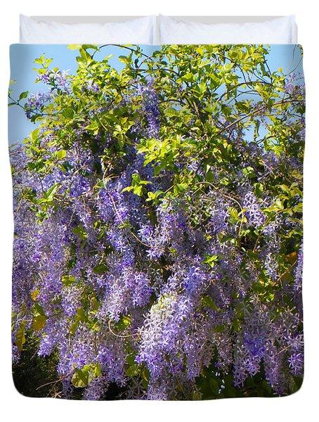 Queen's Wreath Vine Duvet Cover by Rosalie Scanlon