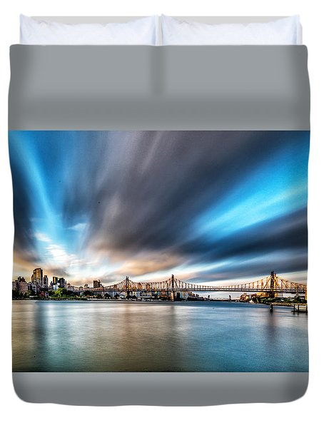 Queensboro Bridge Duvet Cover by Rafael Quirindongo