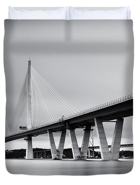 Queensferry Crossing Bridge Mono Duvet Cover