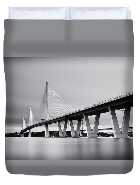 Queensferry Crossing Bridge Mono Duvet Cover