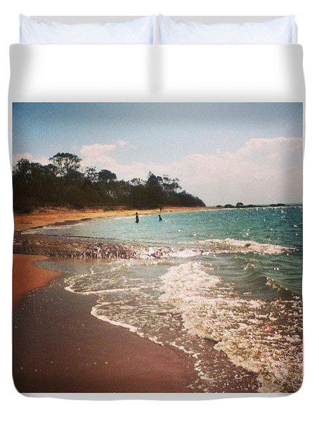 #queensland #beach #beautiful #iloveit Duvet Cover