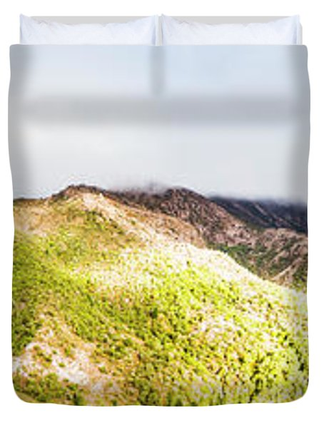 Queenstown Tasmania Wide Mountain Landscape Duvet Cover
