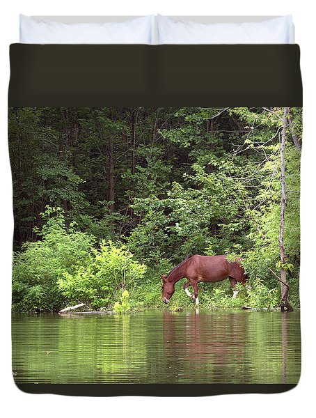 Quench Of Thirst Duvet Cover