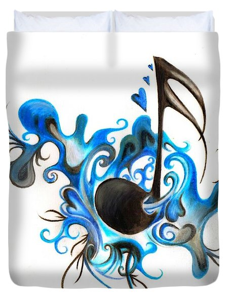 Quenched By Music Duvet Cover
