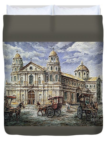Quiapo Church 1900s Duvet Cover
