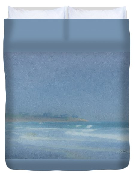 Foggy Afternoon At Little Compton Ri Duvet Cover