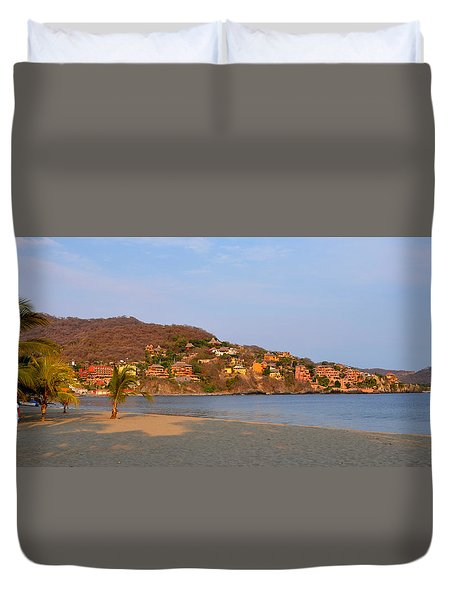 Duvet Cover featuring the photograph Quiet Afternoon by Jim Walls PhotoArtist