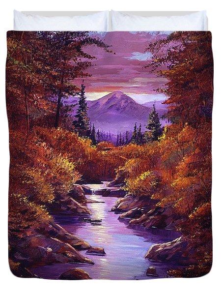 Quiet Autumn Stream Duvet Cover