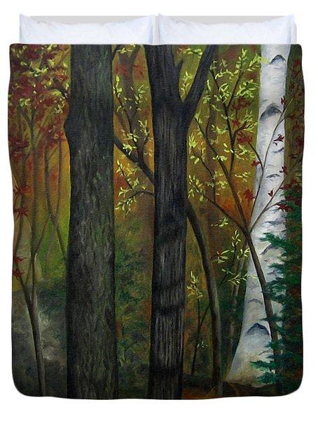 Quiet Autumn Woods Duvet Cover