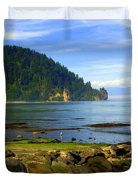 Quiet Bay Duvet Cover by Marty Koch