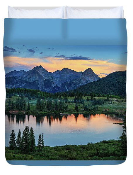 Quiet In The San Juans Duvet Cover