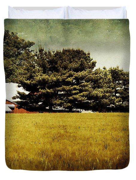 Quiet Duvet Cover by Lois Bryan