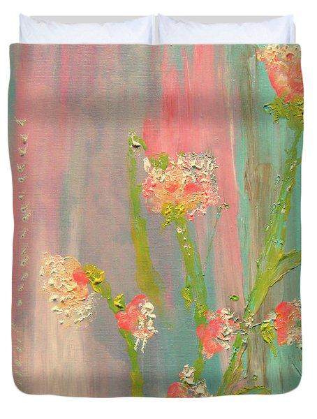 Quiet Marshmallow Time Duvet Cover