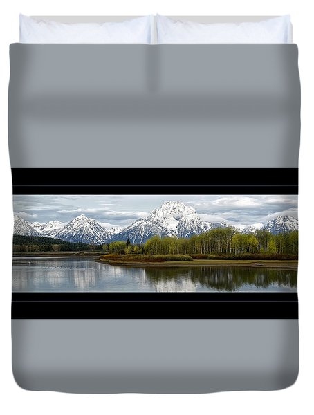 Duvet Cover featuring the photograph Quiet Morning At Oxbow Bend by Jaki Miller