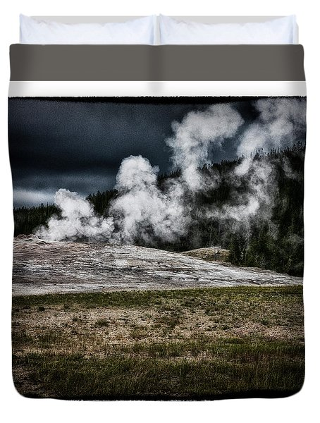 Quiet Old Faithful Duvet Cover by Hugh Smith