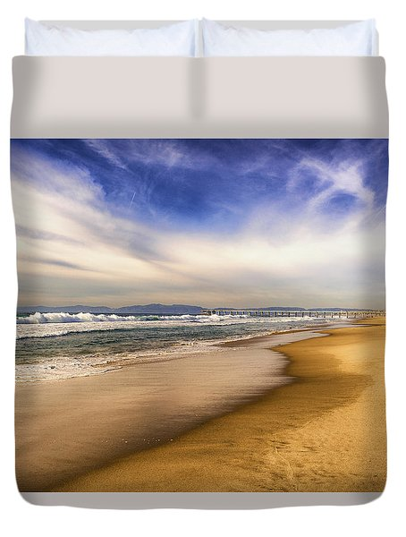 Quiet Reflections Of Hermosa Duvet Cover